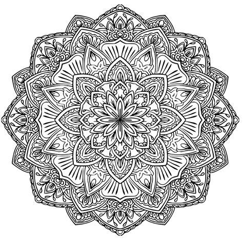 Coloring Mandala by Mandala To In Pdf 1 M Alas Coloring Pages