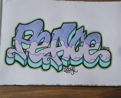 Graffiti Peace : How To Draw Graffiti Letters Peace