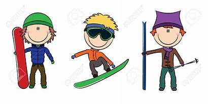 Winter Skiing Clipart Skier Snowboarding Activities Snowboarder
