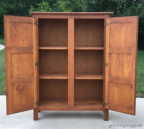 Primitive Cabinet by Primitive Cabinet Makeover In The Garage 174