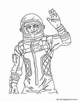 Fortnite Coloring Specialist Mission Astronaut Coloringpagecentral sketch template