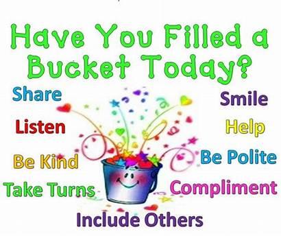 Bucket Filler Filling Fillers Classroom Clipart Fill