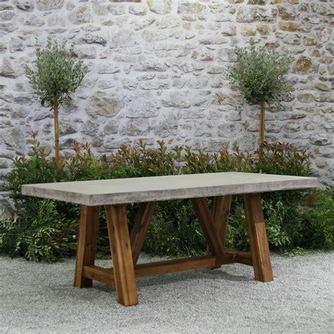bordeaux table concrete top furnture teak