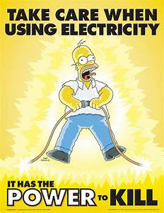 22 simpsons safety posters gallery ebaum39s world With electrical safety posters