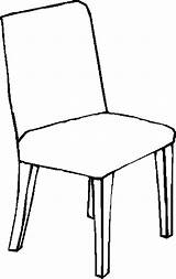 Chair Coloring Colouring Clipart Pages Furniture Child Pencil 05kb Webstockreview Designlooter 900px sketch template