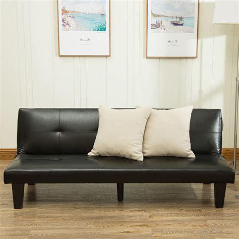 sofa bed futon belleze 69 quot leather faux fold futon lounge