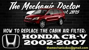 How To Replace The Cabin Air Filter   Honda Cr