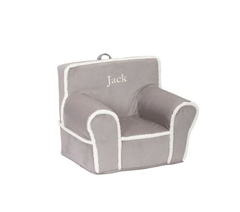 gray with cream sherpa anywhere chair pottery barn kids