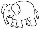 Elephant Coloring Printable sketch template