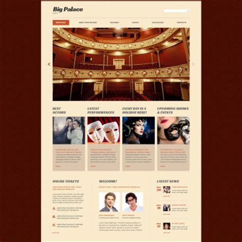 Theatre Responsive Website Template theater templates templatemonster