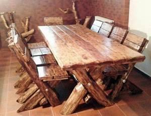 Tisch Eiche Rustikal : casa padrino esszimmer set rustikal tisch 6 st hle eiche massivholz echtholz m bel ~ Buech-reservation.com Haus und Dekorationen