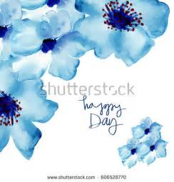 peony flowers blue watercolor flowers stock images royalty free images