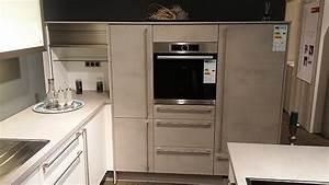 Küche In Betonoptik : nobilia musterk che moderne l k che wei matt ~ Michelbontemps.com Haus und Dekorationen