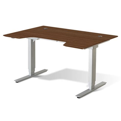 sit stand desk base sit stand adjustable height desk walnut gotofurniture