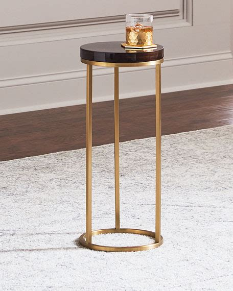 brass table ls interlude home letitia brass side table brown gold