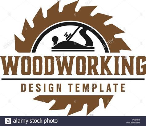 woodworking gear logo design template vector element