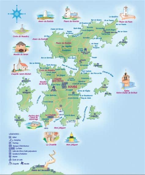 Ile De Tourisme Carte by L 238 Le De Br 233 Hat