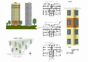 Apartment Plans Dwg  Cad File Download Free