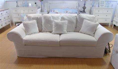 20 Photos White Fabric Sofas