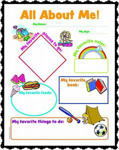 All about me preschool worksheet worksheets for all for About me template for students