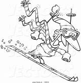 Cartoon Skier Coloring Guy Vector Clipart Drawing Outline Skiing Ski Leishman Clipground Getdrawings Ron sketch template