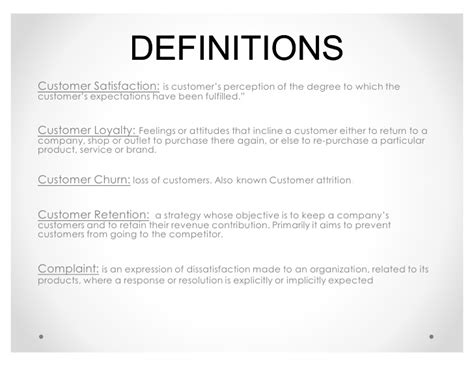 Definition Of Customer Service Exle by Customer Satisfaction Vs Customer Retention