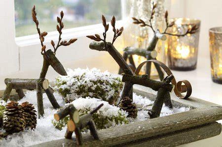 basteln mit zweigen und ästen weihnachten der bastler