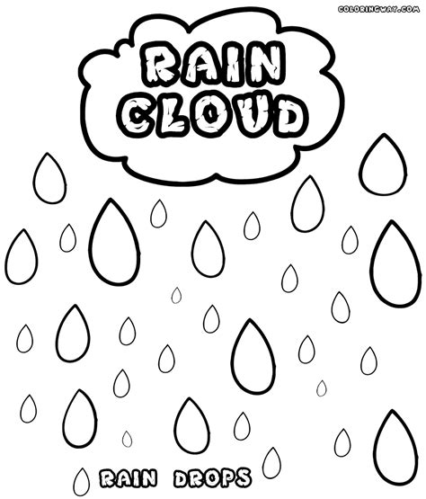 rain coloring pages coloring pages    print
