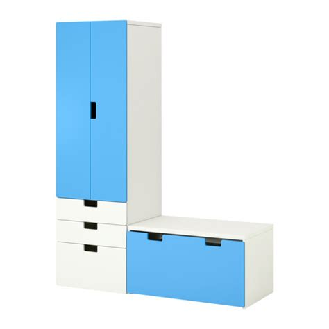 stuva banc de rangement blanc bleu ikea