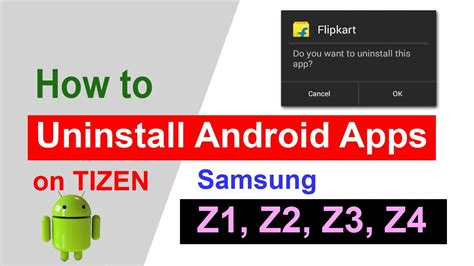 uninstall android apps in tizen how to uninstall android
