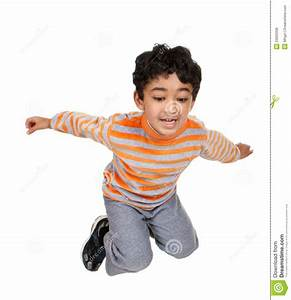 Child Jumping In The Air Royalty Free Stock Image - Image ...