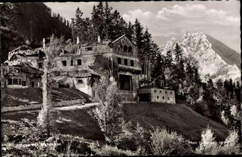Postcard Obersalzberg, Hitlerhaus Mit Watzmann, Zerstörtes