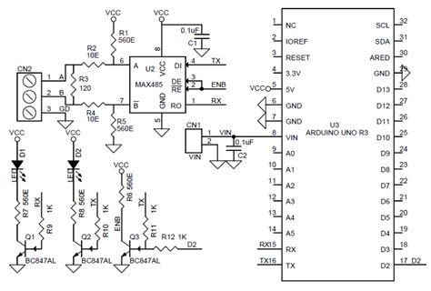Arduino Uno Circuit Diagram Pdf by Uno Shield Rs485 Archives Circuit Ideas I Projects I