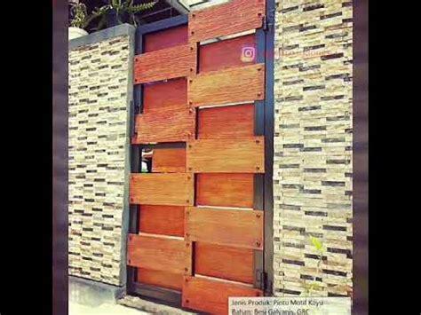 pagar minimalis modern motif kayu klasik grc youtube