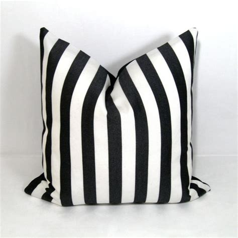 black white stripe outdoor decor cushion modern