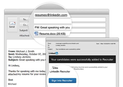 How Do I Email A Resume by Adding Resumes To Recruiter Now As Easy As Sending An Email Linkedin Talent