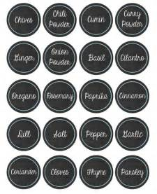 Free Printable Spice Label Templates