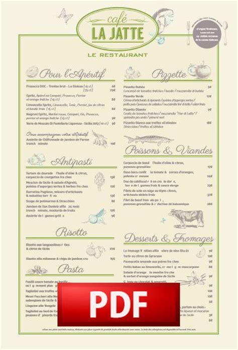 Carte De Des Vins Pdf by Cafejatte Les Cartes Caf 233 La Jatte Restaurant