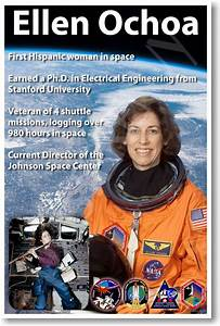 Ellen Ochoa - NEW NASA American Astronaut Space Poster (fp360)