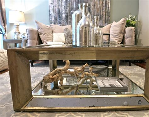 I love this coffee table but i think you're missing a 9 in the z gallerie one happy new year! @Z Gallerie Pascual Coffee Table + Hobby Lobby Mercury Glass + Driftwood #morganpaged… | Living ...