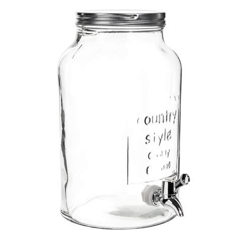 bonbonne avec robinet en verre h 30 cm maisons du monde