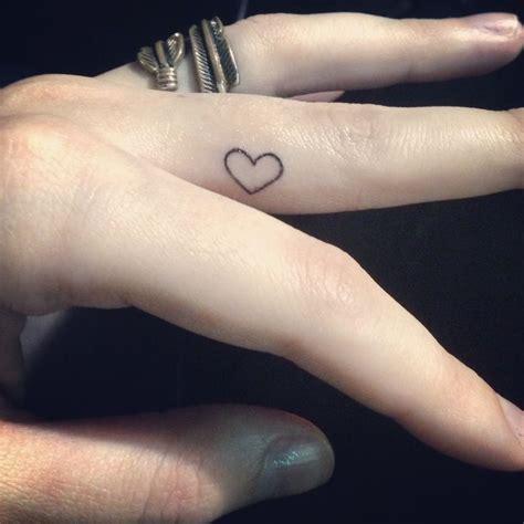 ideas  heart finger tattoos  pinterest