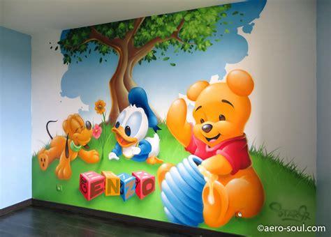deco chambre bebe disney décoration graffiti chambre enfant enzo et les bébés disney