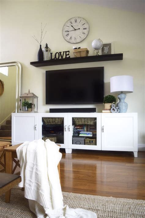 how to decorate with a pine tv stand interior decorating