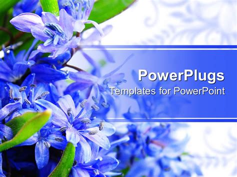 powerpoint template beautiful spring flowers