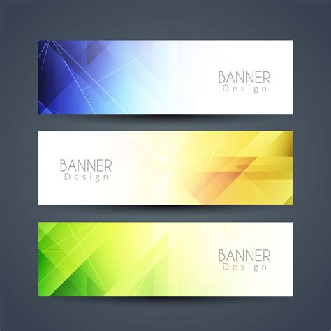 abstract modern banners set   vectors