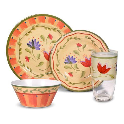 melamine dinnerware sets pfaltzgraff napoli 16 piece melamine dinnerware set