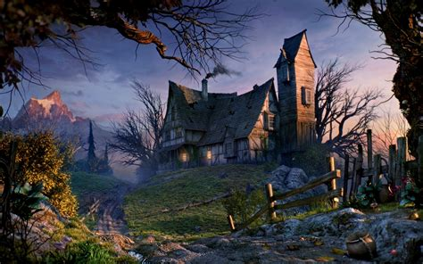 draculas summer cottage hd wallpaper background image