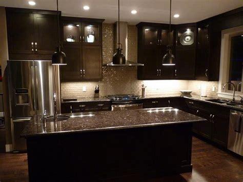 espresso cabinets and grey brown granite countertops love
