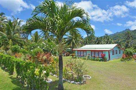 colonial home  rarotonga cook islands stock image image  market home